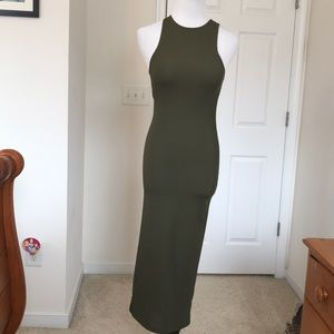 Olive green Topshop Bodycon